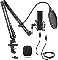 TONOR USB Microfoonkit Q9 Condensator Computer Cardioïde Microfoon voor Podcast, Game, YouTube Video, Stream, Muziek...