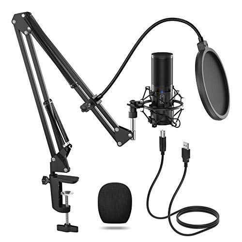 TONOR USB Microphone Kit, Streaming Podcast PC Condenser Computer Mic for Gaming, YouTube Video,...