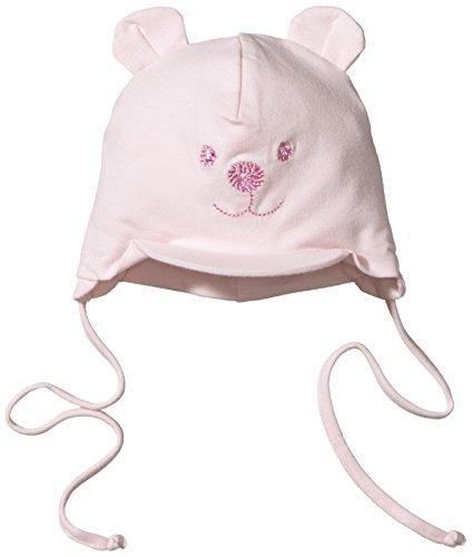 Sterntaler Schirmmütze für Mädchen mit Bindebändern, Nackenschutz und niedlichem Bärchen-Motiv, Alter: 3-4 Monate, Größe: 39, Rosa