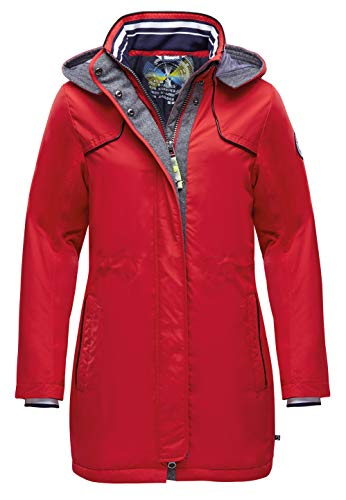 Marinepool Damen Jooles Padded Parka, Red, M