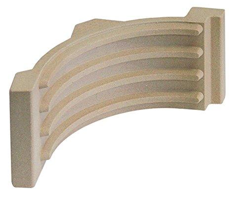 Potis Keramikplatte für Gyrosgrill E1, E2, E3, EH gebogen