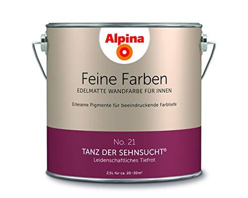 Alpina 2,5 L. Feine Farben, Farbwahl, Edelmatte Wandfarbe für Innen (No.21 Tanz der Sehnsucht - Leid