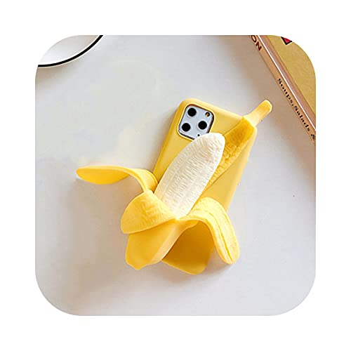 3D Funny Peeled Banana Reliver Stress Case for iPhone 12 11 XS MAX XR 7 8 Plus Push It Bubble Toys Antistress Sensory Soft Cover-Style 2-for iPhone 7