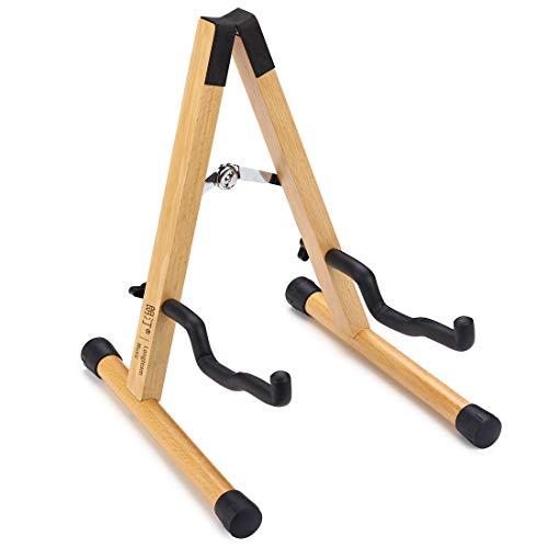 Longteam - Soporte de madera maciza para guitarra, plegable y desmontable, soporte para guitarra acústica clásica de madera de haya
