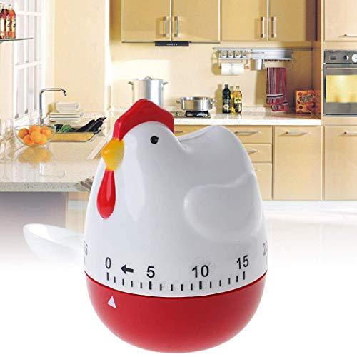 60 Min Kookwekker, Kookwekker Roestvrijstalen Eivormige Timer Mechanisch Roterend Alarm Afteltimer Voor Koken Keukentimer Afteltimer Mechanische Timer Chef-vormig