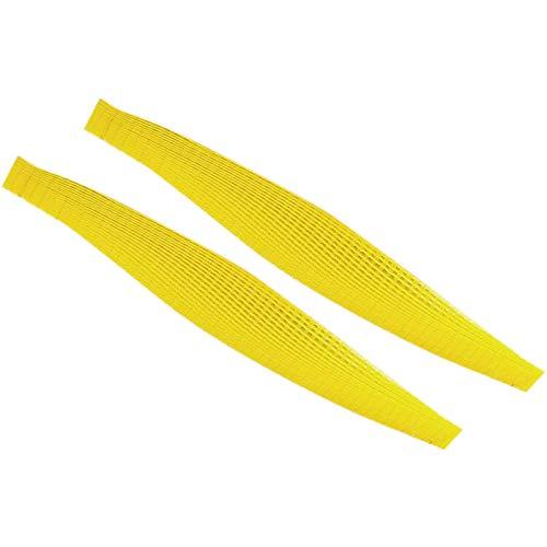 Gesh 100 piezas de plástico vacío correa de cadena tornillo cinta de tornillo vacío para auto alimentación destornillador cinta para un destornillador amarillo