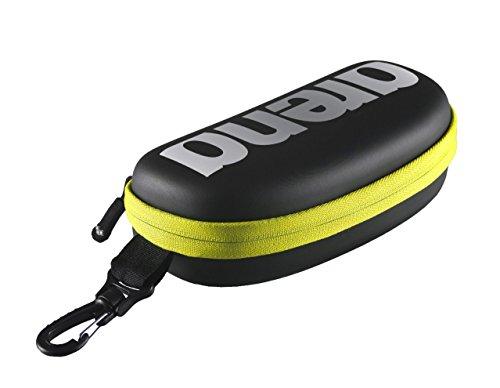 Arena Goggle Case, Astuccio per Occhialini Unisex Adulto, Nero (Black/Silver/Fluo Yellow), Taglia Unica