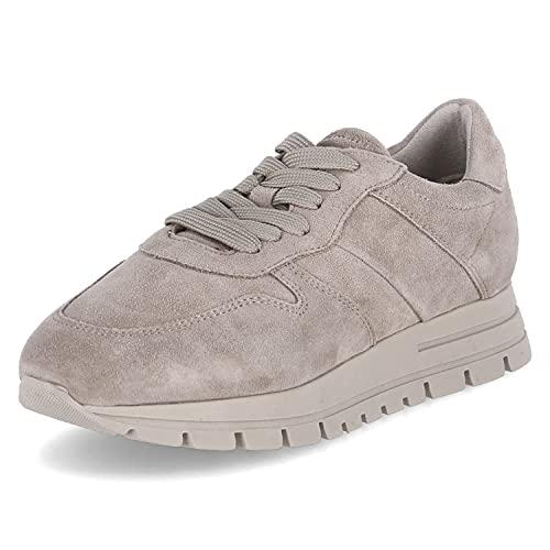 Tamaris Mujer Zapatillas, señora Bajo,TOUCHit,Plataforma de la Suela,Zapato bajo,Zapato de Calle,Cordones,Zapato con Cordones,Taupe,41 EU / 7.5 UK