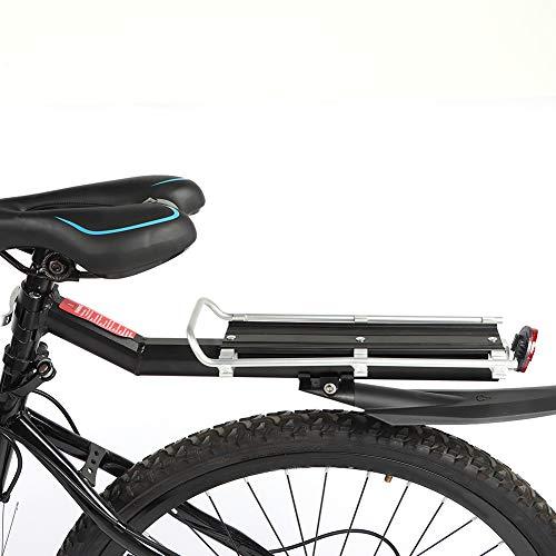 Portaequipajes trasero para bicicleta, aleación de aluminio universal Portaequipajes para bicicleta Portaequipajes trasero resistente y duradero Portaequipajes para asiento de bicicleta Se adapta a vá