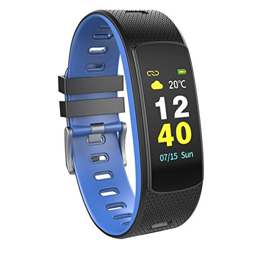 Fitness Smart Watch, I6 HR C Smart-Armband Herzfrequenz-Tracker Sport Smart-Armband-Farb-LCD Band Fitness-Monitor Tracker I6HRC Armband Uhr,Blau