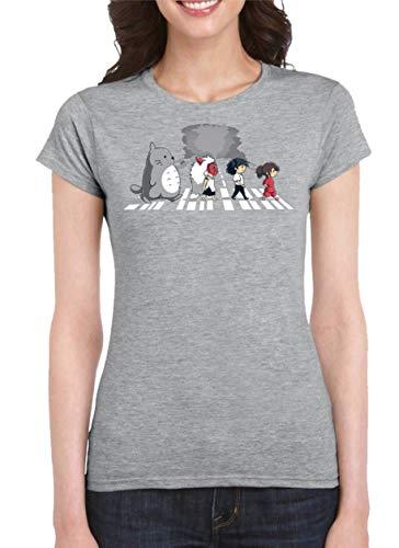 The Fan Tee Camiseta de Mujer Ghibli Totoro Mononoke Porco 016 L