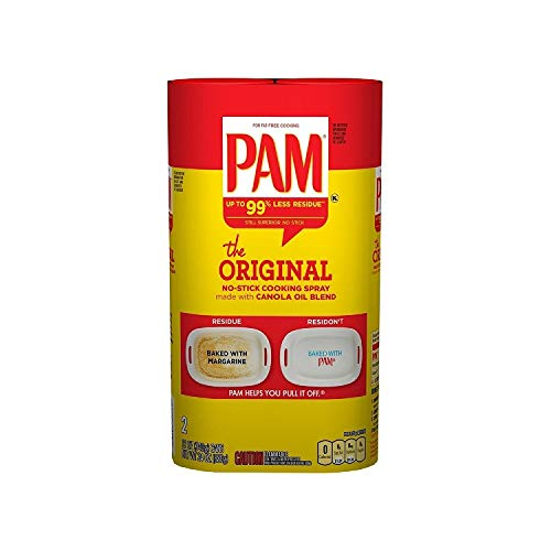 Pam Original Non-Stick Cooking Spray, 12 Oz Each, Pack of 2 (24 Oz Total)