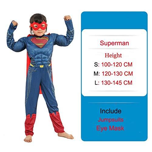 EQWR Eisen Rüstung Mark 4 Cosplay Kleidung Jungen Iron Man Kostüme Maske The Avengers Flash Batman Amerikanischen Kapitän Muskel Overall C3551CH M 20