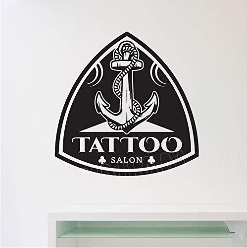 Tattoo Salon Muurstickers Art Stickers Woondecoratie Stickers Studio Werkplaats Kantoor Muur Raamdecoratie Vinyl Stickers Muurschildering 57X57Cm
