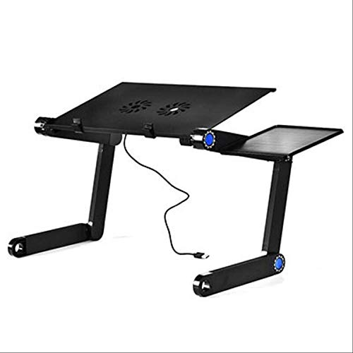 ZJBKX Portable Folding Laptop Table, Sofa Bed Office Laptop Stand Desk Computer Notebook Bed Table 42 * 26cm Negro A