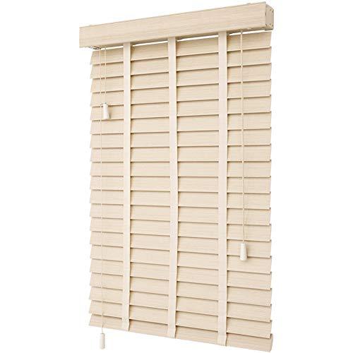 ZEMIN persienner imitation massiva träpersienner, högpolymer PVC-material rullgardin, mörkläggning och vattentät, kan anpassas (färg: A, storlek: 140 x 180 cm)