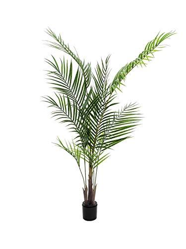 artplants.de Deko Großblatt Arecapalme, 165cm, wetterfest - Kunstpalme - Künstliche Areca Palme