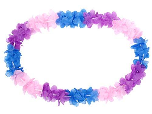 Alsino 60 Colliers Hawaienne Collier Hawaii Rose-Vif Bleu Collier Fleurs HK-23