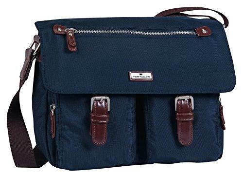 TOM TAILOR Damen Taschen und Geldbörsen Schulter-Tasche aus Nylon dark blue cognac,OneSize