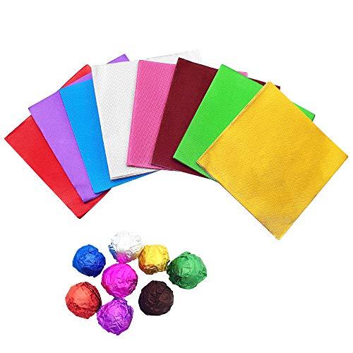 Baven 800 Stück Verpackungen für Süßigkeiten, Alufolie, Verpackung für DIY Süßigkeiten/Schokolade, Dekoration