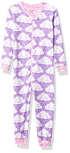 Hatley Baby-Mädchen Organic Cotton Sleepsuits Kleinkind-Schlafanzüge, Fröhlicher Wolken, 18-24 Monate