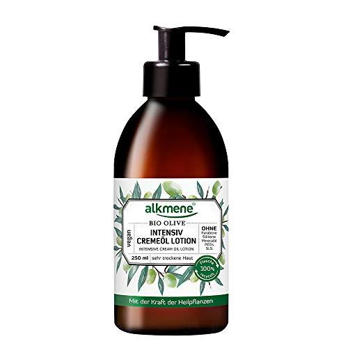 alkmene Intensiv Creme-Öl Lotion mit Bio Olive, Bodylotion, Körperlotion, für sehr trockene Haut, 250 ml