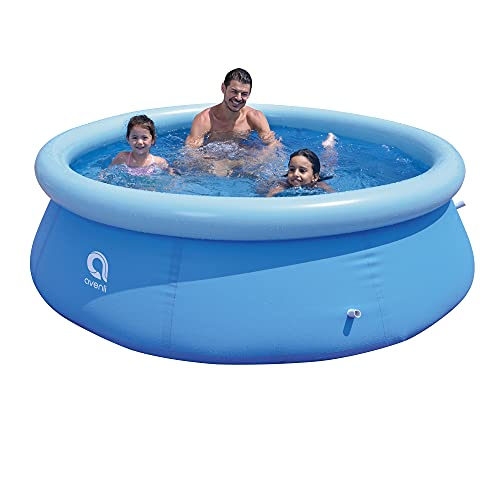Tanness 8ft Round Outdoor Garden Inflatable Family Kids Adults Prompt Set Paddling Swimming Pool