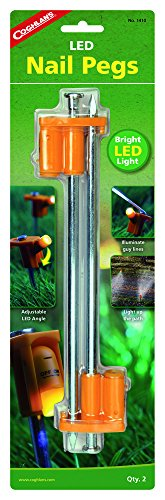 Coghlan's Coghlans Zelthering mit LED Hering, Orange, 25 cm