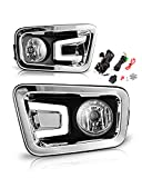 AUTOFREE Fog Lights for 2017-2018 Nissan Titan & 2016-2019 Nissan Titan XD with Bulbs H11 12V 55W Driving Lamps Replacement Included Wiring Kit & Switch-1 Pair(Clear Lens)