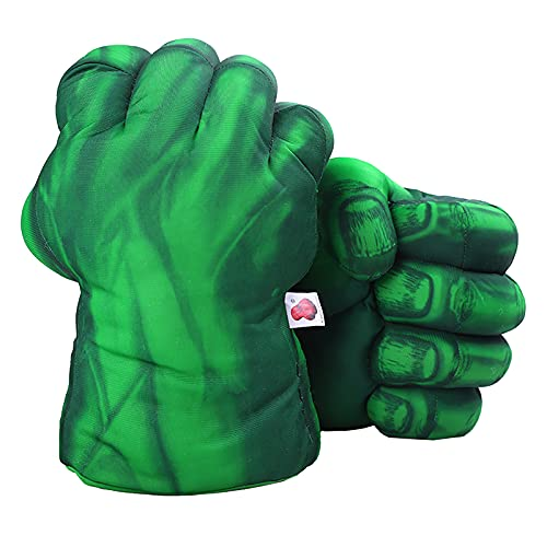 1 Pair Green Gloves, Green Smash Hands Big Soft Plush Fists Parent-Child Interactive Toy (Green)