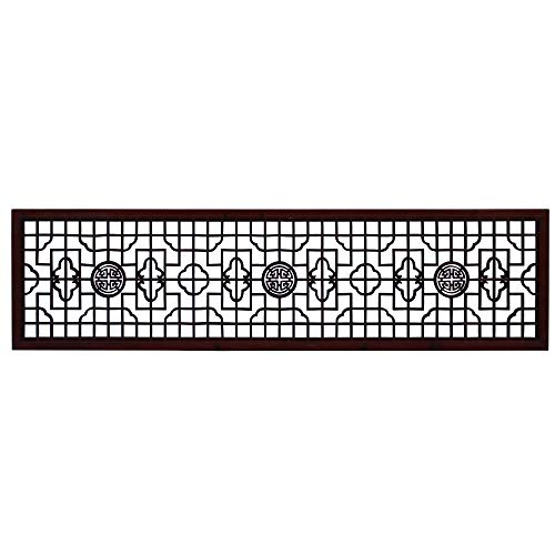 Why Should You Buy Chinese Medium Brown Geometric Pattern Accent Tall Floor Panel Acs4524