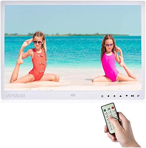 """Andoer 13\"""" Digital FotoRahmen LED Albums 1080P 1280 * 800 HD mit Fernbedienung und 7 Hauch der Hilfe-Schlüssel automatische Wiedergabe Weihnachts- und Geburtstagsgeschenk für Familien und Freundin"""