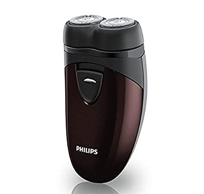 Philips PQ206 Men Electric Shaver Battery Operated with Floating Heads, Lightweight from Philips