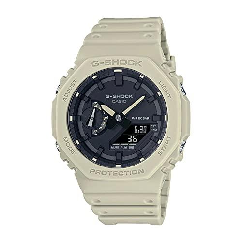 Reloj Casio G-Shock Carbon Core Guard Analogue Digital Beige GA-2100-5AER