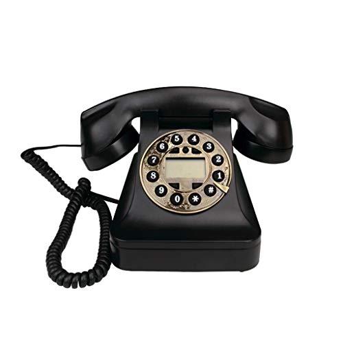 Vast, Draadloze Telefoon Met, Hinder Call Blocker En Digitaal Antwoordapparaat, Vaste Telefoon Antiek Retro Vaste Kantoor Aan Huis Telefoon Black Metal Rotatie