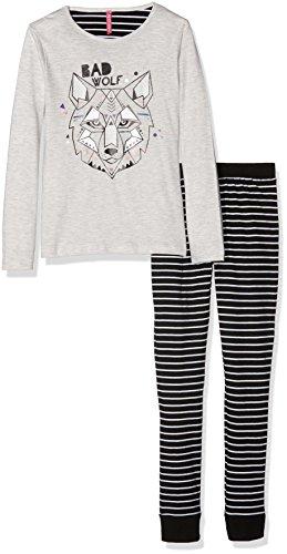 Lina Pink EF.Loup.PL2.MZ Ensemble de Pyjama, (Beige Chiné/Noir), Ans (Taille Fabricant: 10 Y) Fille