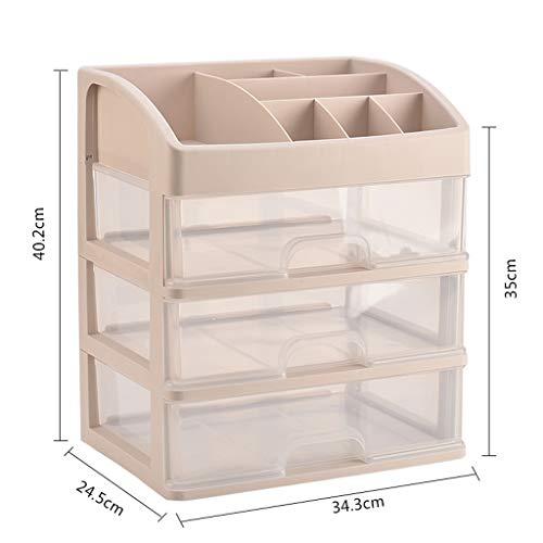 Boîte de Rangement cosmétique Transparente en Plastique Type de tiroir de Bureau Rouge à lèvres Bijoux Produits de Soin de la Peau Boîte de Stockage Affichage FANJIANI (Size : 34.3 * 24.5 * 40.2cm)