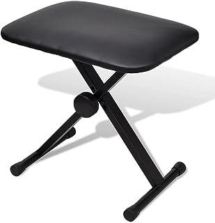 vidaXL Adjustable Keyboard & Piano Stool Foldable Bench 3 Way Chair Poratble