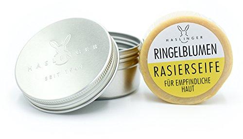 Haslinger Rasierseife Ringelblumen ca. 60g in Dose