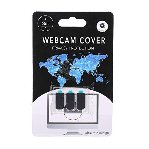 Docooler 3 PCS Webcam Tampa Do Obturador de Privacidade Protetor de Slider De Plástico Tampa Da Câmera adesivo de Privacidade para Webcam IPAD iPhone Mac PC Laptops Rectangle Celular (preto)
