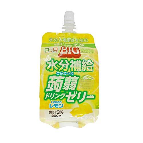 ヨコオデイリーフーズ こんにゃくゼリー BIG水分補給蒟蒻ドリンクゼリー レモン 蒟蒻 300g 30個入