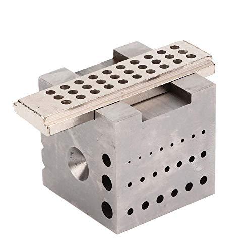 Soporte de caja de reloj, herramienta de joyería de reloj, herramienta de reparación de reloj de mesa de trabajo, mini aleación de acero para procesamiento de reparación de reloj