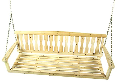Jack Post Knollwood Porch Swing Size: 5' W
