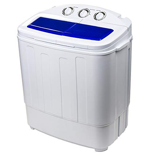 Dawoo 4.4 Kg Mini Portable Washing Machine Fully Automatic Double-Cylinder Washing Machine With Drain Pump And Control Timer (37cmX 57cmX 66cm)