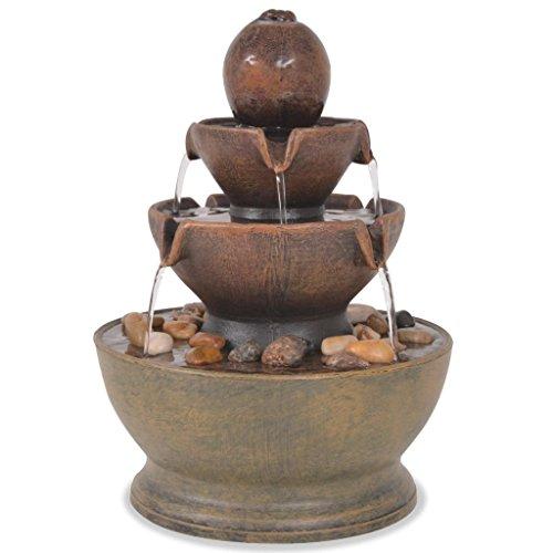 vidaXL Fuente Decorativa Interior Bomba Decoración Mesa Agua Acuática Hogar