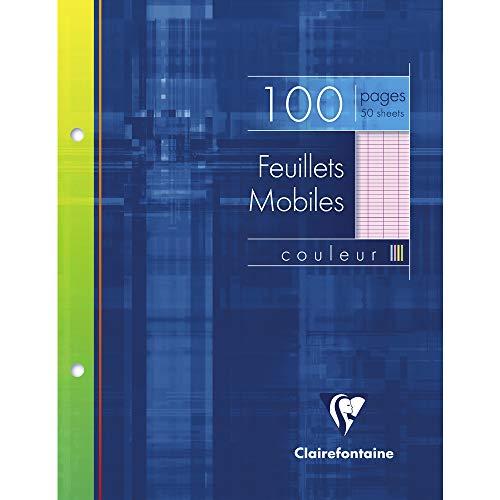 Clairefontaine 17x 22cm Seyes liniert 2Loch gelocht Einzelbogen–Pink (50Stück Blatt)