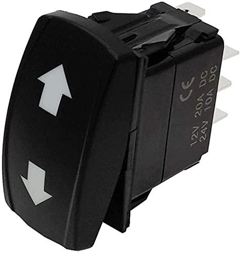 XpFac Store Interruptor de balancín Interruptor de señal de Giro 3 Posición en Off en el Interruptor de la lámpara Verde Rocker para vehículos de ingeniería de 12V 24V Forklift (Color : Black)