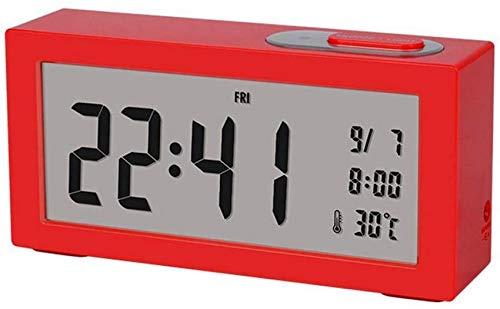 rzoizwko Regalo Creativo Escritorio Cuadrado Despertador de cabecera Simple Silencioso Sin tictac Alimentado por batería 15 * 7 * 3.8cm