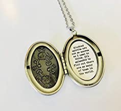 Anne of Green Gables Necklace, Kindred Spirits quote, Silver Locket
