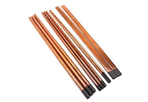NO LOGO SY-KTLJ, Cepillo de Aire de Arco de Carbono Electrodo de Grafito de Varilla de Carbono Cepillo de Aire DC Pinzas de Pistola Cobre Especial Redondo (Color : Diameter 9mmx350)